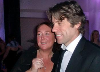 Lisa Quinn with comedian John Bishop